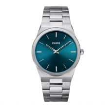 Cluse Vigoureux Steel Petrol Blue & Silver Men's Watch