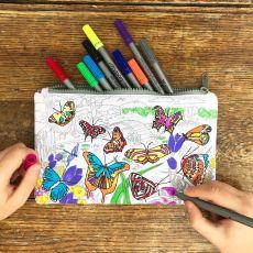 Eat Sleep Doodle Butterfly Pencil Case