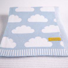 Babyboo Clouds Baby Blue Blanket