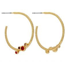 Dansk Smykkekunst Anna Rainbow Hoop Gold Earrings