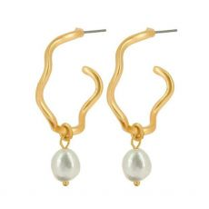 Dansk Smykkekunst Audrey Curve Gold Earrings