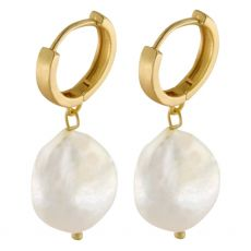 Dansk Smykkekunst Audrey Organic Hoop Gold Earrings