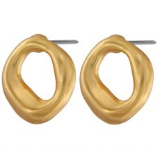 Dansk Smykkekunst Audrey Simple Organic Gold Earrings