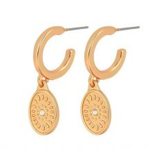 Dansk Smykkekunst Daisy Oval Gold Earrings