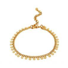 Dansk Smykkekunst India Flat Gold Bracelet