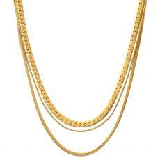 Dansk Smykkekunst Isolde Multi Gold Necklace