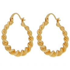 Dansk Smykkekunst Tara Spinning Hoop Gold Earrings