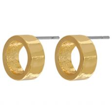 Dansk Smykkekunst Vanity Open Dot Gold Earrings