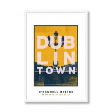 Jando Dublin Town O'Connell Bridge Large Framed