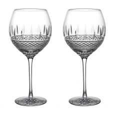 Waterford Crystal Irish Lace White Wine Set of Two Glasses