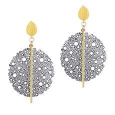 Scribble & Stone Laser Cut Bloom Drop Earrings