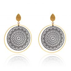 Scribble & Stone Black Moroccan Disc Earrings