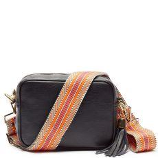 Elie Beaumont Black Crossbody Bag & Woven Strap