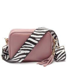Elie Beaumont Dusty Rose Crossbody Bag & Woven Strap