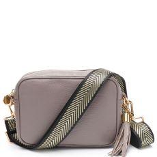 Elie Beaumont Grey Crossbody Bag & Woven Strap
