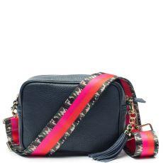 Elie beaumont navy bag & army stripe strap combination