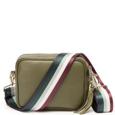 Elie Beaumont Olive Crossbody Bag & Woven Strap