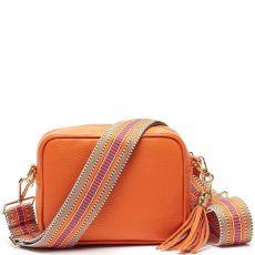 Elie Beaumont Orange Crossbody Bag & Woven Strap