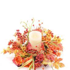 Enchante Autumn Glory Candle Wreath