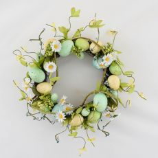 Enchante Blue Blossom Egg Wreath