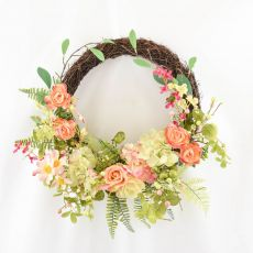Enchante Blush Garden Floral Vine Wreath