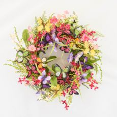 Enchante Butterfly Floral Wreath
