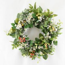Enchante Hawberry Floral Foliage Wreath