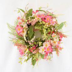 Enchante Pink Posy Floral Wreath