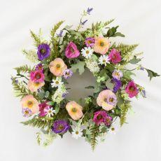 Enchante Poppy Garden Wreath