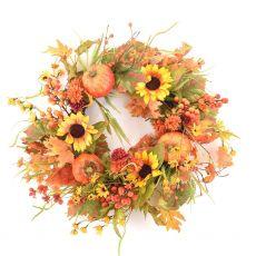 Enchante Pumpkin Blossom Large Wreath