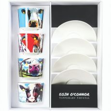 Eoin O' Connor Set of 4 Cappuccino Mugs