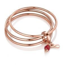 Newbridge Large Triple Bangle Birthstone January