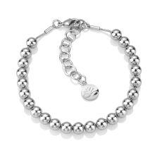 Newbridge Rhodium Plated Small Bead Bracelet