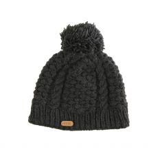 Erin Aran Blackberry Charcoal Bobble Hat