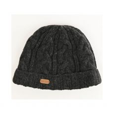 Erin Aran Charcoal Cable Men's Hat