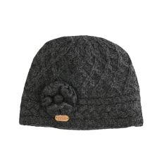 Erin Aran Trellis Charcoal Hat