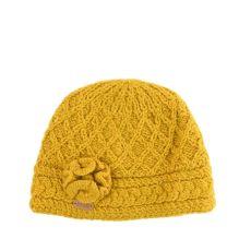Erin Aran Trellis Mustard Hat