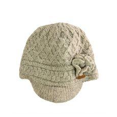 Erin Aran Trellis Oat Peak Hat