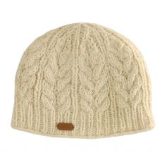 Erin Cable Ladies Pull On Hat White