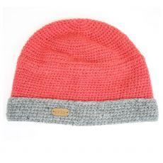 Erin Crochet Ladies Turn Up Hat Raspberry