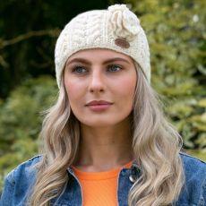 Erin Aran Cable White Headband