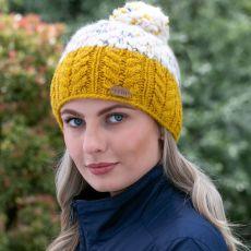 Erin Knitwear Bobble Ladies Hat yellow
