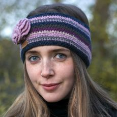 Erin Lilac Flower Crochet Headband