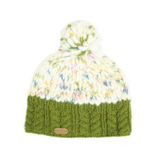 Erin Knitwear Uneven Wool Bobble Hat
