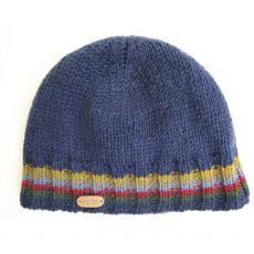 Erin knitwear mens pull on beanie dark blue