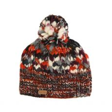 Erin Orange/Berry Wool Bobble Hat