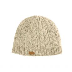 Erin Aran Cable Pullon Oatmeal Hat