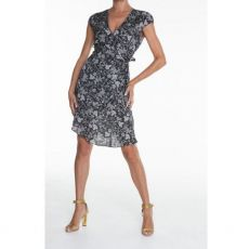 Eva Kayan Black Print Wrap Dress