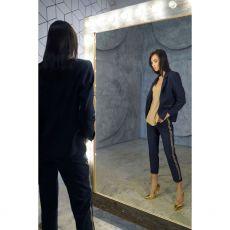 Eva Kayan Luxury Striped Trousers Model
