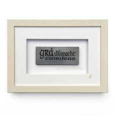 Wild Goose Framed Gra Dilseacht Caidreas Lime Finish